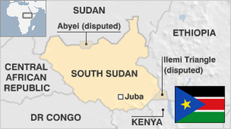 South Sudan Map